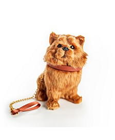 Pomeranian Puppy Dog with Collar and Leash Doll with Pet Accessory