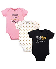 Baby Girls Mini Mama Bodysuits, Pack of 3