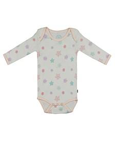 Baby Girls Snowflakes Long Sleeve Onesie