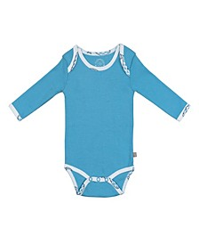 Baby Boys Bubbly Whale Long Sleeve Onesie