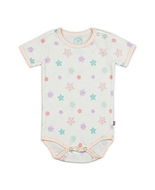 Baby Girls Snowflakes Short Sleeve Onesie