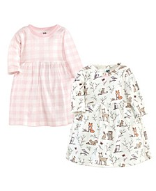 Baby Toddler Girls Enchanted Forest Dresses, Pack of 2