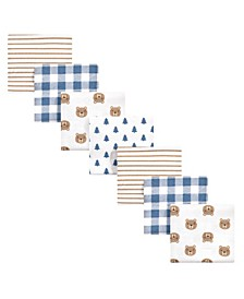 Baby Girls and Boys Little Bear Flannel Receiving Blankets Bundle, Pack of 7