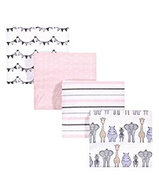 Baby Girls and Boys Safari Flannel Receiving Blankets