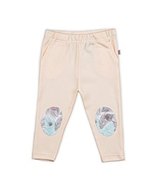 Baby Girls Peacock Patch Trouser