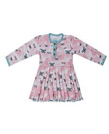 Baby Girls Butterflies Three Button Dress
