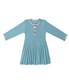 Baby Girls Butterfly Three Button Dress