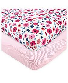 Baby Girls and Boys Garden Floral Crib Sheet