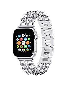 Men's and Women's Apple Silver-Tone Zinc Alloy Replacement Band 40mm