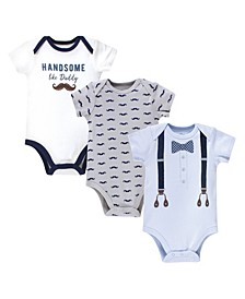Baby Boys Handsome Like Daddy Bodysuits, Pack of 3