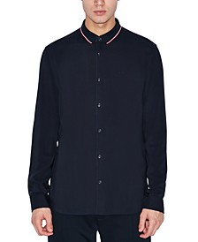 Men's Button-Down Navy Shirt