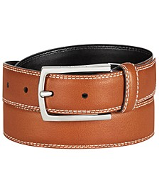 Men's Feather-Edge Leather Belt