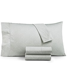 CLOSEOUT! Etched Block California King Sheet Set, Created for Macy's
