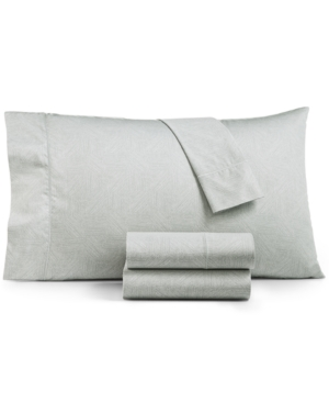 Closeout! Hotel Collection Etched Block King Sheet Set, Created for Macy's Bedding