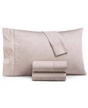 Closeout! Hotel Collection Etched Block Queen Sheet Set, Created for Macy's Bedding