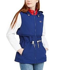 Cinch-Waist Hooded Jacket