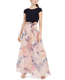 Petite Floral Organza Gown