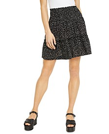 Juniors' Printed Ruffle Mini Skirt