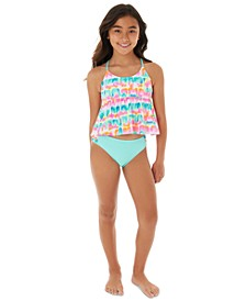 Big Girls 2-Pc.Babydoll Tankini