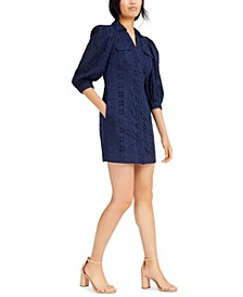 INC Cotton Eyelet Shift Dress, Created for Macy's