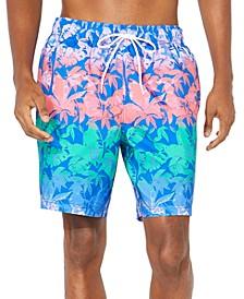 "Men's Tropical Gradient Print 8"" Swim Trunks"
