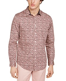 INC Men's Ditsy Leopard Shirt, Created for Macy's