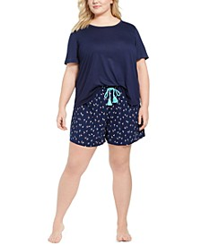Plus Size T-Shirt & Short Pajama Separates, Created for Macy's