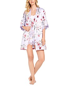 INC Floral-Print Robe & Pajama Set Collection, Created for Macy's