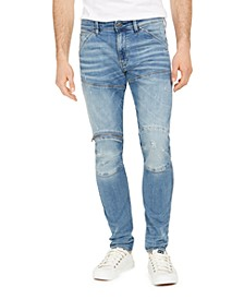 Men's Skinny-Fit Stretch Destroyed Zip-Knee Jeans
