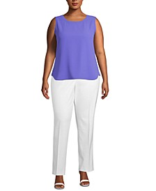 Plus Size Sleeveless Blouse