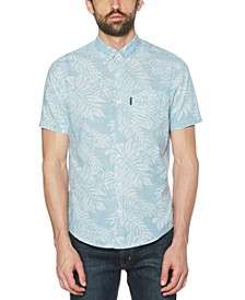 Men's Heritage Slim-Fit Leaf-Print Chambray Shirt