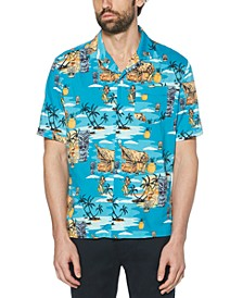 Men's Tiki Classic-Fit Tropical-Print Camp Shirt