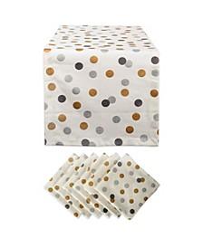 Metallic Confetti Table Runner and Napkin, Set of 2