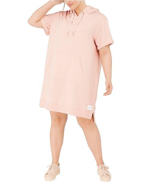 Calvin Klein Plus Size Hoodie Dress