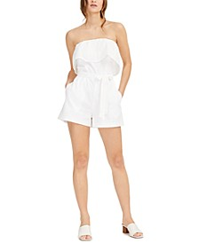 Strapless Eyelet-Embroidered Romper, Created for Macy's