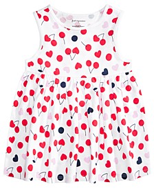 Baby Girls Cotton Cherry Heart Tunic, Created for Macy's