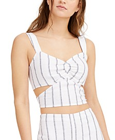 Striped Cutout Crop Top, Created for Macy's
