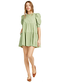 Danielle Bernstein Baby Doll Mini Dress, Created for Macy's