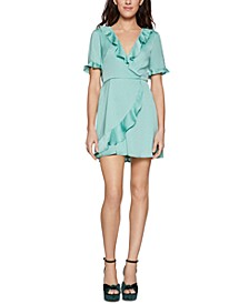 Ruffled Satin Mini Dress