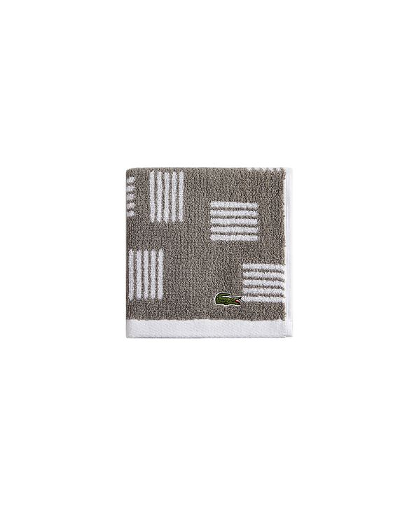 """Lacoste Raster Cotton 16"""" x 30"""" Hand Towel"""