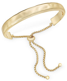 Style & Co Hammered Bolo Bracelet, Created for Macy's