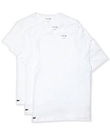 Men's 3-Pk. Essential Cotton V-Neck Regular Fit Undershirts