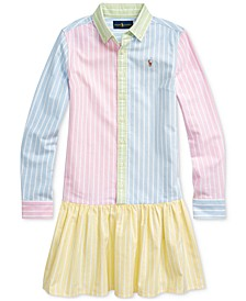 Big Girls Cotton Oxford Fun Shirtdress