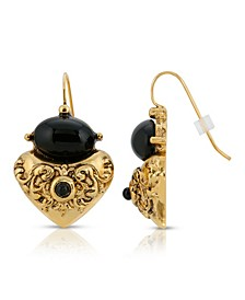 Corinthian Sculpted Heart Drop Earrings