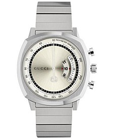 Men's Swiss Chronograph Grip Stainless Steel Bracelet Watch 40mm