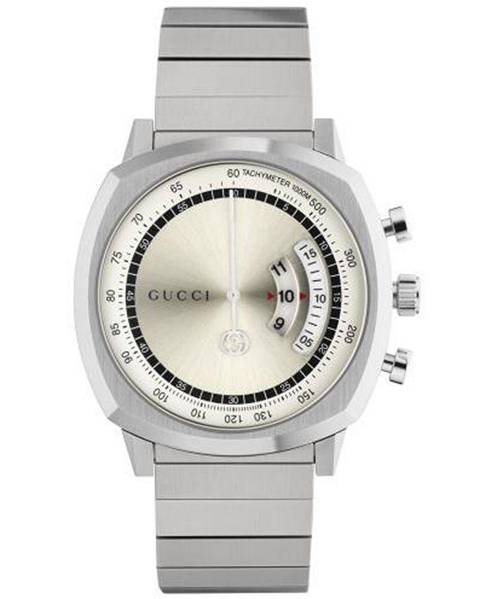 Gucci - Men's Swiss Chronograph Grip Stainless Steel Bracelet Watch 40mm