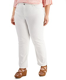 Plus Size High Rise Tummy Control Jeans, Created for Macy's