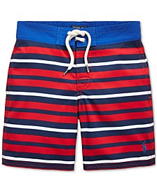 Little Boys Striped Sanibel Swim Trunks