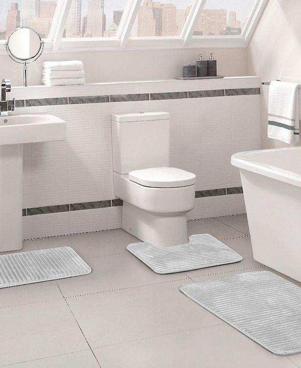 Idea Nuova 3pc Memory Foam Bath Rug Set