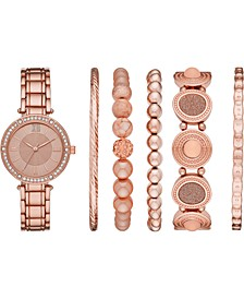 Women's Rose Gold-Tone Bracelet Watch 32mm Gift Set